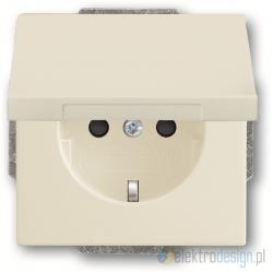 ABB Axcent Gniazdko z klapką schuko biały-chalet