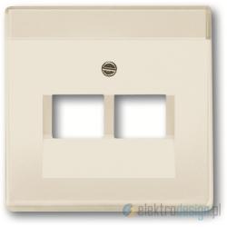 ABB Axcent Gniazdko komputerowe podwójne RJ45 kat.5e biały chalet