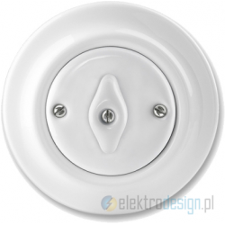 ABB Decento Włącznik obrotowy schodowy biały