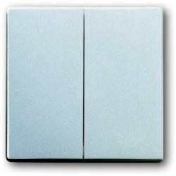 ABB Future Włącznik podwójny schodowy aluminiowo srebrny