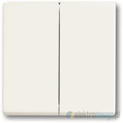 ABB Future Przycisk zwierny podwójny biały studyjny mat