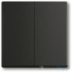 ABB Future Włącznik podwójny świecznikowy czarny matowy