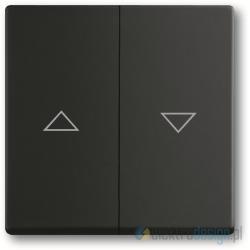 ABB Future Włącznik żaluzjowy z blokadą czarny matowy