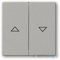 ABB Future Włącznik żaluzjowy z blokadą aluminiowo srebrny