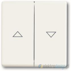 ABB Future Włącznik żaluzjowy z blokadą biały studyjny mat
