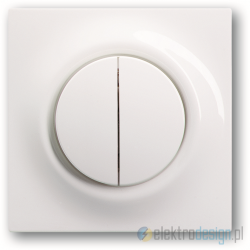 ABB Impuls Włącznik sekwencyjny świecznikowy biały alpejski