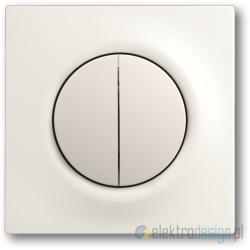 ABB Impuls Włącznik podwójny schodowy impulsowy biały studyjny mat