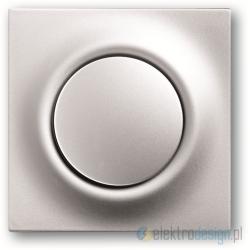 ABB Impuls Włącznik pojedynczy schodowy impulsowy aluminiowo srebrny