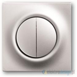 ABB Impuls Włącznik podwójny schodowy impulsowy aluminiowo srebrny