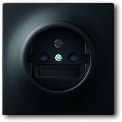 ABB Impuls Gniazdko z uziemieniem czarny matowy