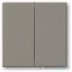ABB Solo Włącznik podwójny świecznikowy szary metalik