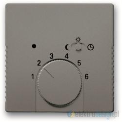 ABB Solo Regulator temperatury z lampką i przeWłącznikiem szary metalik