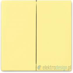 ABB Solo Włącznik podwójny świecznikowy żółty