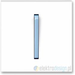 ABB NEO Włącznik pojedynczy schodowy biały/lodowo niebieski