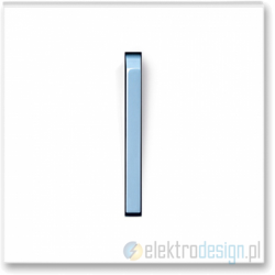 ABB NEO Włącznik pojedynczy krzyżowy biały/lodowo niebieski