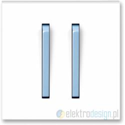 ABB NEO Włącznik podwójny świecznikowy biały/lodowo niebieski