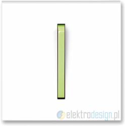 ABB NEO Włącznik pojedynczy krzyżowy biały/lodowo zielony