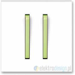 ABB NEO Włącznik podwójny schodowy biały/lodowo zielony