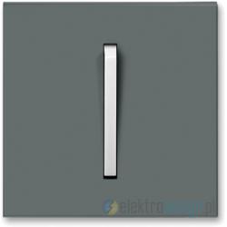 ABB NEO Włącznik pojedynczy krzyżowy grafitowy/lodowo biały