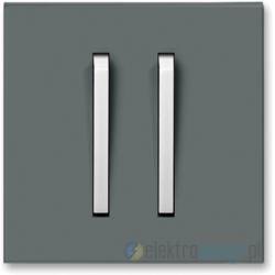 ABB NEO Włącznik podwójny schodowy grafitowy/lodowo biały
