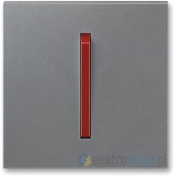 ABB NEO Włącznik pojedynczy krzyżowy stalowy terakota