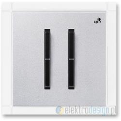 ABB NEO Włącznik podwójny świecznikowy tytanowy onyx