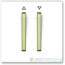 ABB NEO Przycisk żaluzjowy zwierny biały/lodowo zielony