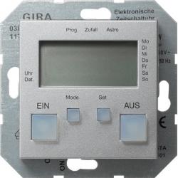 Zegar sterowniczy kolor aluminium System 55 GIRA