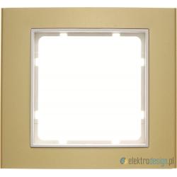 Ramka 1-krotna złoty/śnieżnobiały Berker B.3