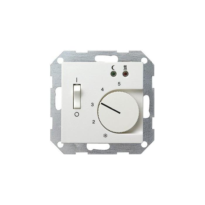 Regulator temperatury pokojowy 230V z sondą biały matowy System 55 GIRA