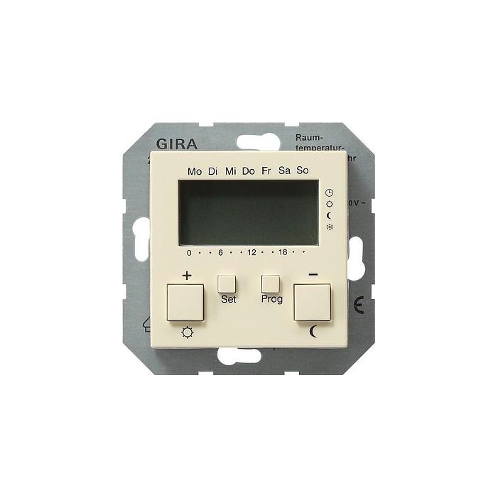Regulator temperatury pokojowy 230V z zegarem kremowy System 55 GIRA