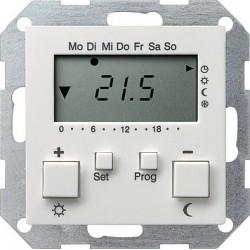 Regulator temperatury pokojowy 230V z zegarem biały System 55 GIRA