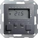 Regulator temperatury pokojowy 230V z zegarem antracytowy System 55 GIRA