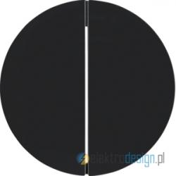 Przycisk podwójny zwierny czarny połysk Berker R.1/R3