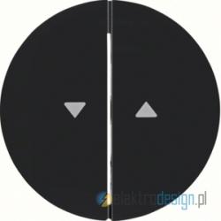 Łącznik żaluzjowy czarny połysk Berker R.1/R3