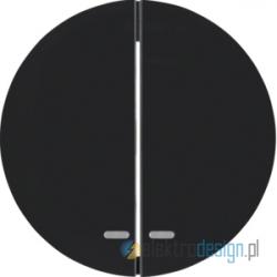 Łącznik podwójny seryjny / świecznikowy czarny połysk Berker R.1/R3