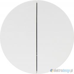 Ściemniacz uniwersalny przyciskowy 2-krotny biały połysk Berker R.1/R3