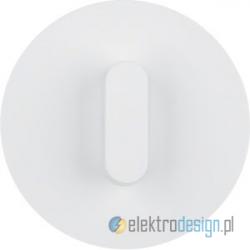 Przycisk zwierny obrotowy biały połysk Berker R.classic