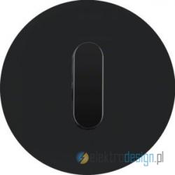 Przycisk zwierny obrotowy czarny połysk Berker R.classic