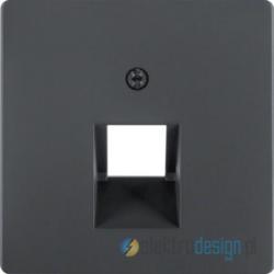 Gniazdo telefoniczne pojedyncze 8 pin antracyt, aksamit Berker Q.1/Q.3