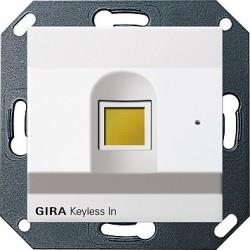 Keyless In czytnik linii papilarnych biały System 55 GIRA