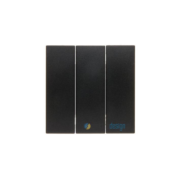 Łącznik potrójny antracyt, aksamit Berker Q.1/Q.3