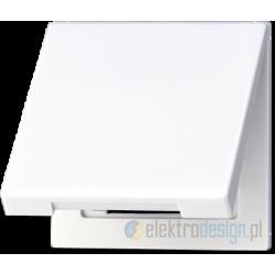 Gniazdo z uziemieniem i klapką (IP44), białe LS990 JUNG