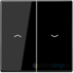 Włącznik roletowy przyciskowy, czarny, JUNG LS 990
