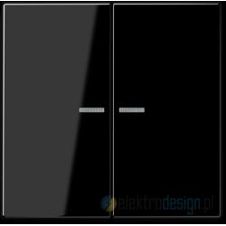 Włącznik podwójny z podświetleniem, czarny JUNG LS 990