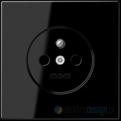 Gniazdo z uziemieniem, czarne, JUNG LS 990