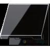 Gniazdo z uziemieniem i klapką IP44 czarne Jung LS 990
