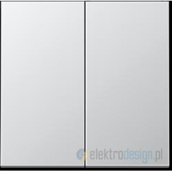 Włącznik podwójny (seryjny) schodowy, aluminiowy, JUNG LS Aluminium