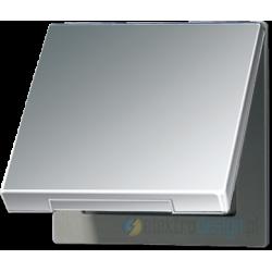 Gniazdo z uziemieniem i klapką (ip44) LS Aluminium JUNG