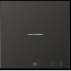 Włącznik pojedynczy z podświetleniem, antracytowy JUNG LS Antracyt